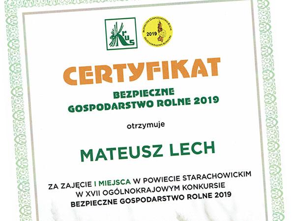 certyfikat bezpieczne gospodarstwo